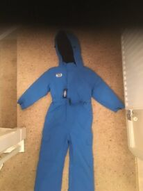 Boys All in One Blue Ski Suit