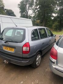 Vauxhall Zafira spares/repairs