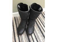 FRANK THOMAS BLACK LEATHER ARMOUR MOTORCYCLE BOOTS SIZE 7 EUR 41.