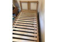 Ikea slatted wooden single bed