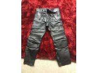 Lewis motorbike leather trousers size 34