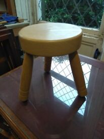 Stool made from solid hardwood
