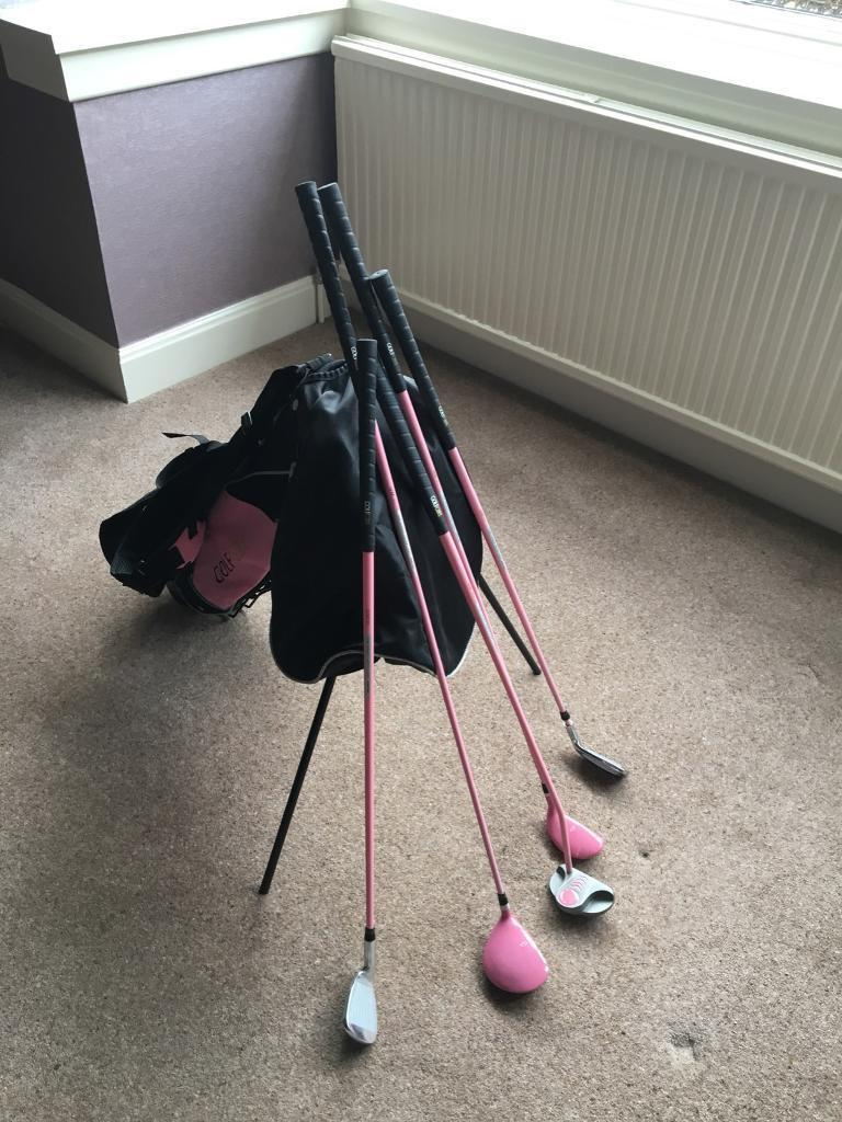 Girls golf bag and clubs