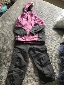 Spotty Otter Girls waterproof Jacket and trousers age 5-6