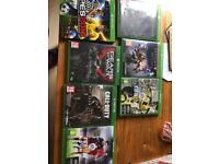 Bundle of Xbox one games x 7