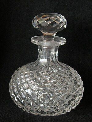 ANTIQUE VICTORIAN EDWARDIAN HAND CUT GLASS SCENT / PERFUME BOTTLE ENGLISH
