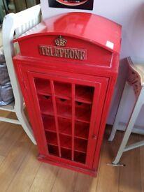 Telephone box wine rack