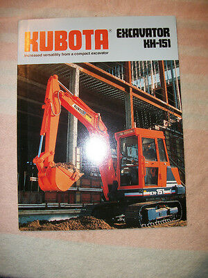 Original Kubota Kh-151 Excavator Sales Brochure