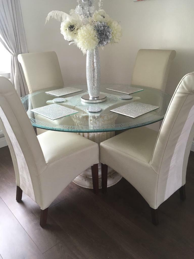 Italian cream stone versace inspired glass dining table lamp table italian cream stone versace inspired glass dining table lamp table display stand aloadofball Choice Image