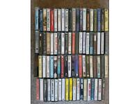 Collection of 80 music cassettes, excellent condition