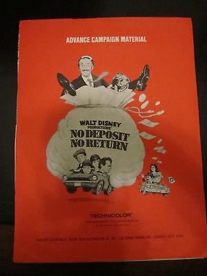 NO DEPOSIT NO RETURN Rare PRESS KIT 14 8x10's DISNEY