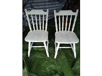 Chairs x 2 antique white kitchen/dining room