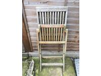 Set of 4 wood chairs & Table