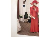 STUNNING FRANK USHER MOTHER OF BRIDE FULL OUTFIT ORIGINAL COST £1800