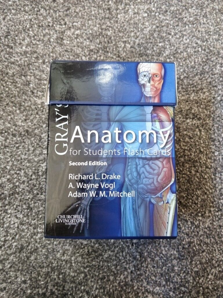 Grays Anatomy Flash Cards In Meadows Edinburgh Gumtree