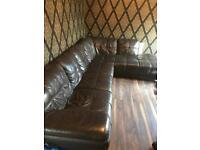 Big leather sofa l shape