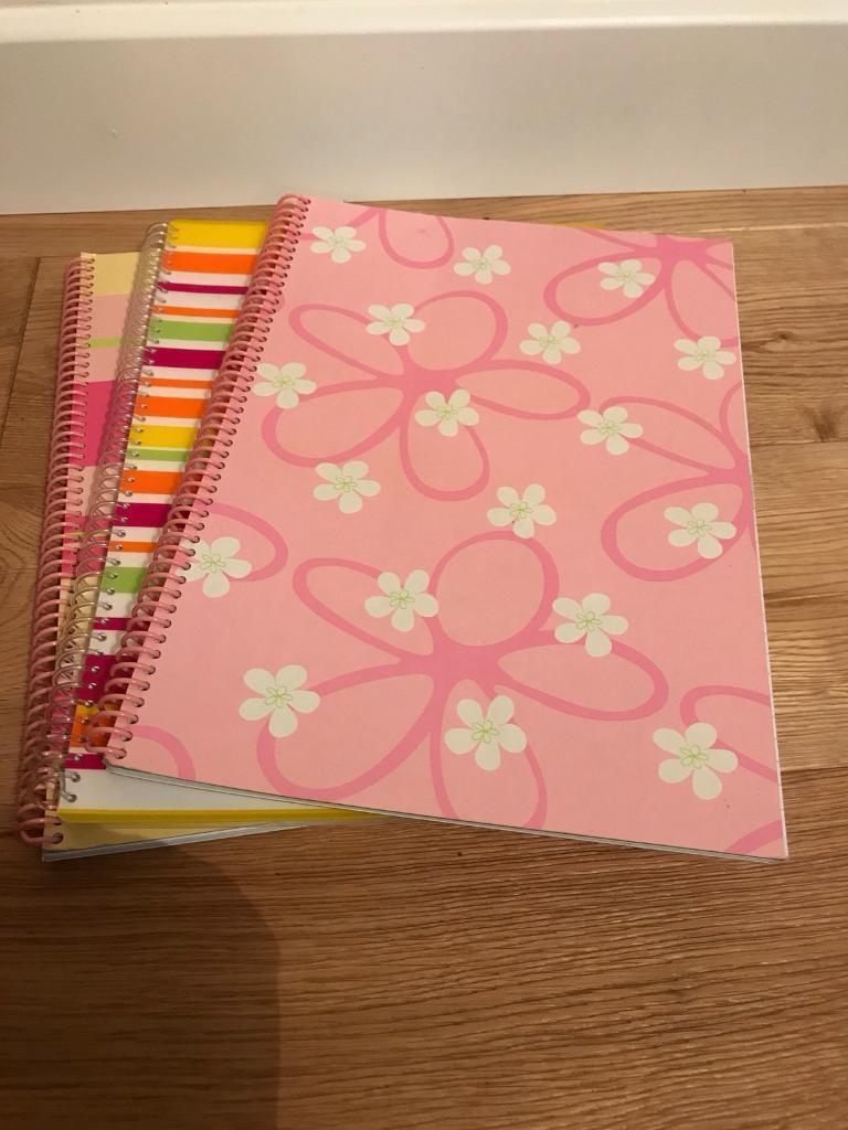 3 brand new A4 spiral bound note pads.