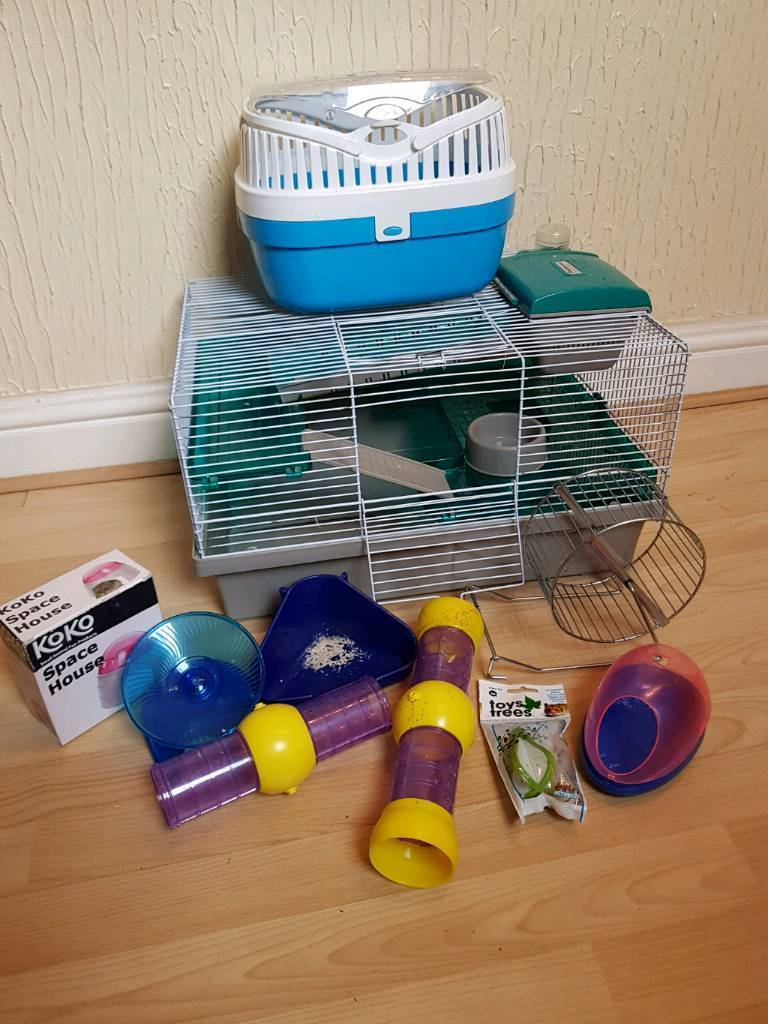 Large Hamster Cage, Travel Case and More