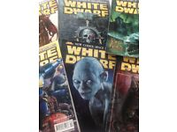 Large number of White Dwarf gaming magazines. Issues between 250 and 400.