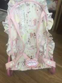 Baby Annabell Baby Rocker Bouncer Good Condition Light Pink Colour