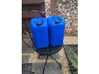 2x 25l water containers (marine reef/tank saltwater)