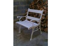 high quality cast iron vintage garden or patio chair