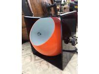 Retro Orange Lamp - Original Retro Lamp - Unusual Lamp - Full Working Order - Collectible Lamp