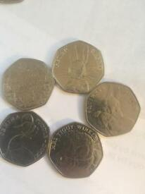 Collectible 50p's Beatrix potter battle of Hastings