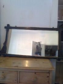 Vintage black framed mirror
