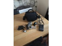 Camcorder with bag charger and leads in good condition