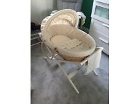 Moses Basket with Stand, blanket, Mattress & bedding