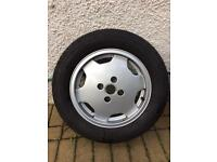 Audi coupe 80 spare wheel / alloy / tyre