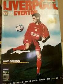his auction is for the OFFICIAL PROGRAMME The match was played at Anfield,