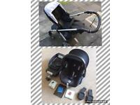 Mamas and Papas Sola Pushchair Travel System with Maxi Cosi Cabriofix and EasyFix Isofix