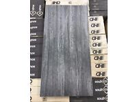 Yukon Anthracite Decor 30x60 Porcelain Tile