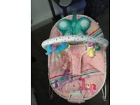 Mothercare pink butterfly baby bouncer