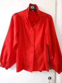 Silk 80ies blouse must go before 30th October