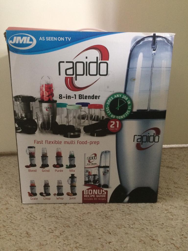 New in box JML Rapido 8-in-1 blender