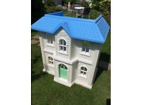 Little Tikes large 2 storey dolls house, can be used outdoors