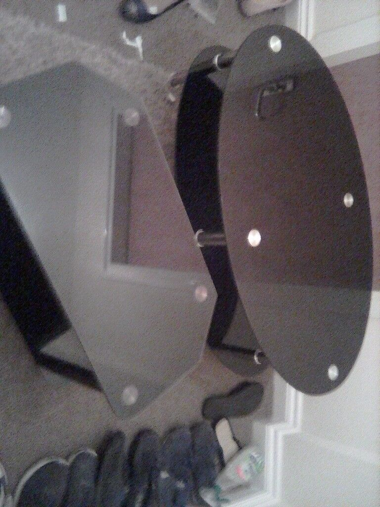 Black glass table set.. Collection only. Fantastic condition.. Need gone ASAP.