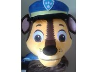 Chase from Paw Patrol Available to Hire - Mascot Cartoon