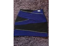 Ladies size 10 river island blue black and silver skirt £2