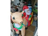 Brand new massive inflatable santa sleigh