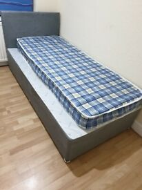 Durable Single Size Divan Bed & Comfortable Mattress Same Day Delivery