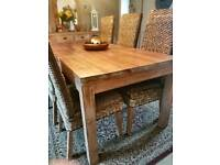 Oak Side board and dining table / chairs