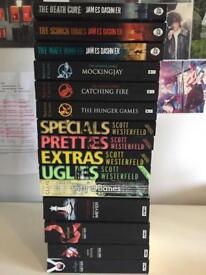 15 Books! The maze runner, the hunger games, uglies, The mortal instruments, twilight
