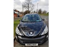 2010 Peugeot 308 S, 5 door, petrol,black, Disabled lady owned Automatic with Rear parking sensors
