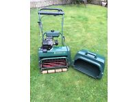 Balmoral 17s petrol motor mower with box