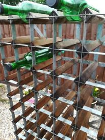 Large Wine rack metal and wood for home or garage