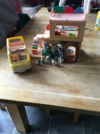 Sylvanian families house, vehicle, figures and accessories for sale